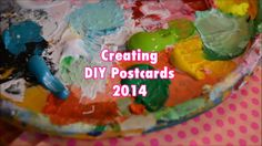 Creating DIY Postcards. Inspiration for making your own mail art! We're painting handmade postcards and then cutting and decorating them. Ap...