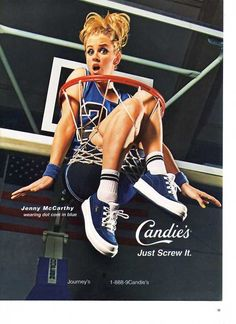 1998 ad for Candies shoes featuring Jenny McCarthy.