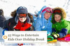 Great ideas for DIY toys and activities to keep kids busy during winter break