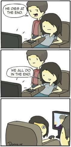doing this the next time someone ruins the ending