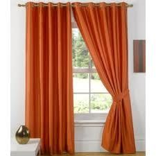 Brown And Blue Window Curtains Brown and Burnt Orange Walls