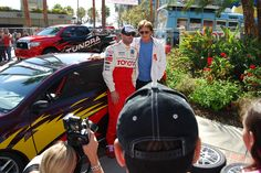 Brody and Bruce Jenner taking media pics at the 2012 Toyota Pro/Celebrity Race in Long Beach. #TPCR