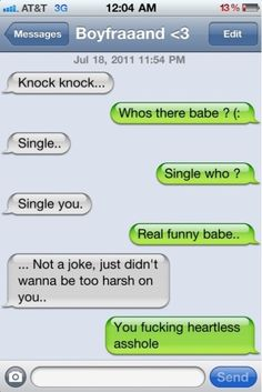 break up text messages | Funny Funny way to breakup via SMS like a boss, knockknock, funni stuff, text, laugh, humor, knock knock, quot, thing