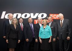 Numerous dignitaries joined Lenovo executives for the press conference announcing the new PC facility in North Carolina!