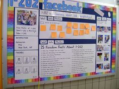 "Facebook is the thing right now!  I love the idea of the class having it's own ""facebook"" page in the form of a bulletin board.  I think the students would get into it.  It's a way for them to take ownership for their class and who they are as a whole. -5573"