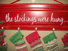 great way to hang the stockings if you don't have a fireplace!