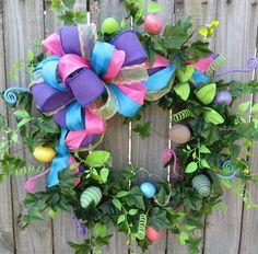 Bright Easter Egg Easter Wreath -