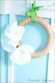A really simple & easy foam wreath updo. Spring Fever Wreath @ Domestically-Speaking.com