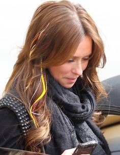 Jennifer Love Hewitts feather extensions