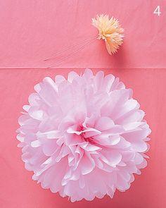 DIY another tissue paper pom pom