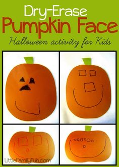 Fun Halloween Activity for Kids! Re-usable.