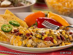 Southwestern Chicken Packets using parchment paper in the oven