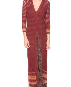 maxi length cardigan