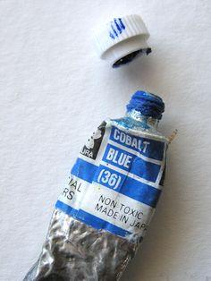 @Arteriole Calligraphy #cobalt #blue #watercolour #paint #pigment