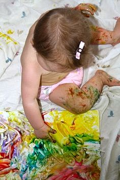 Baby paint recipe - cheap and fun!