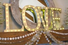 DIY for letter lights from Nesting in the Bluegrass: One Little Word for 2014 big letters, diy box letters, 2014, bluegrass blog, light box letters, diy letter, big lighted letters tutorial, letter light, heart crafti