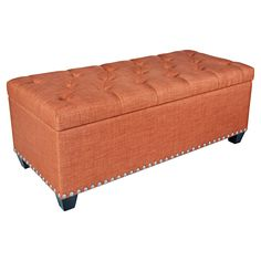 Have to have it. angelo:HOME Button Tufted Storage Ottoman - $219.98 @hayneedle