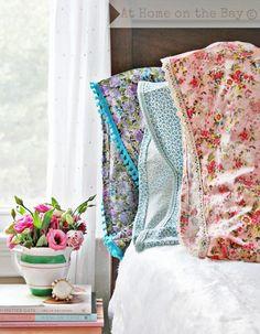 vintage pillowcase tutorial craft, idea, tutorials, pillow case, pillowcases, vintage inspired, lace trim, diy pillows, bedroom