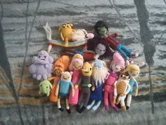 crochetted adventure time dolls