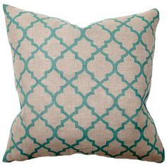 Illusion Tile Print Turquoise Pillow Pair from @LaylaGrayce #laylagrayce #destination #marrakech