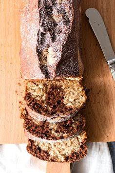 One Bowl Banana Marble Bread - Savory Nothings