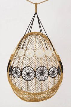 knotted melati hanging chair / anthropologie