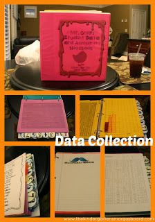 Data notebooks in Kindergarten!  Assessing, collecting and organizing data to use for data chats with students!