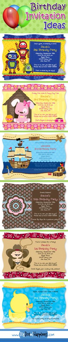 Birthday Party Invitation Ideas #birthday #party