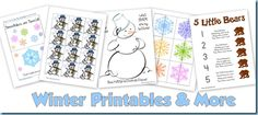 1+1+1=1's winter theme printables