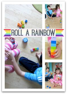 Roll a Rainbow Activity For Kids- pinned by @PediaStaff – Please Visit  ht.ly/63sNt for all our pediatric therapy pins