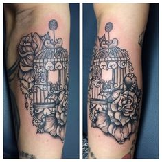 Birdcage by Fab Stella @Charity Cook-Blood, Sweat & Tears – Toronto, ON | Tattoos Pin