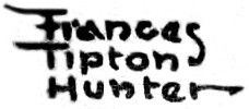 Frances Tipton Hunter signature (by Pearlmatic)