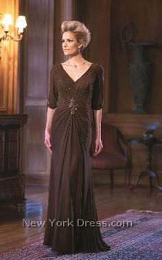 long sleeve dress, for Grooms mother