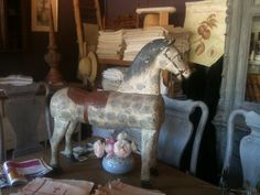 old toy wooden horse