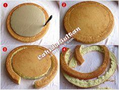 İnce Pandispanyadan Yüksek Pasta Yapımı