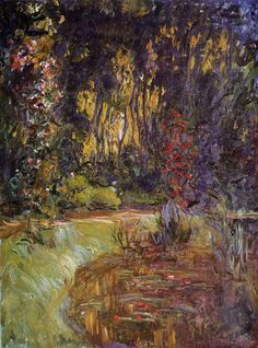 Water-Lily Pond at Giverny, Claude Monet.