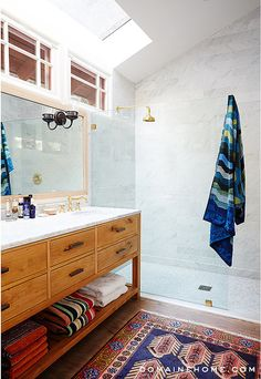 Love the idea of the ipen space underneath for towels