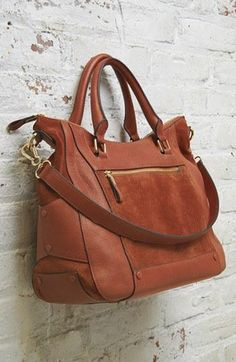 Great mix of suede & leather in this satchel.