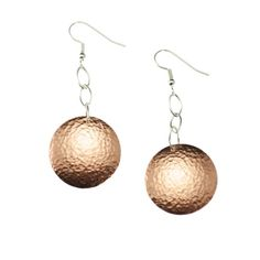 Handmade Copper Disc Earrings