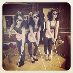 Scariest Three Blind Mice Costumes Ever!… Coolest Halloween Costume Contest