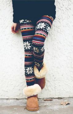 Fuzzy boots and leggings