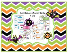 Free Bat Number Cards  from Preschool Printables on TeachersNotebook.com -  (18 pages)  - Bat 10 frame number cards