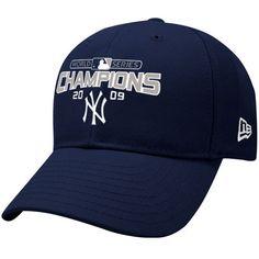 New Era New York Yankees Navy Blue 2009 World Series Champions Wool Blend Structured Adjustable Hat