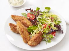 Crispy Chicken Strips With Salad Recipe : Food Network Kitchen : Food Network