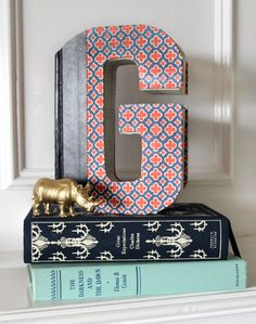 How to create a decorative letter out of a book by @Handmade Mood
