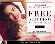 Avon Free Shipping and Avon Free Gift Offer - Avon Free Shipping on your $20 online order - expires: midnight 8/19/2014 - Online exclusive...learn more: http://www.makeupmarketingonline.com/avon-free-shipping-avon-free-gift-offer/ #avon #freeshipping #coupon
