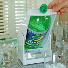 Pinner says this.....Thank god someone invented this!  If there is one thing that drags me down in life and ruins nearly every party, it is having to lift a 2 liter bottle of soda to pour.  Lifesaver...... I think that is funny. But I think it's kinda cool.