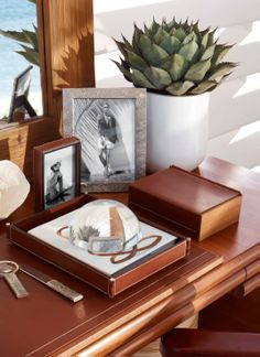 Ralph Lauren Winston Desk Accessories & Clayton Dome Magnifier