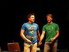 What happens at DragonCon... John Barrowman & Scott Gill.