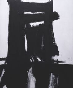 gloomy-planets: Franz Kline, Meryon (1960-1) painting art, colourful abstract painting, artist
